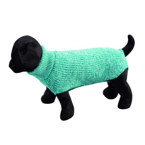 Camisola lisa de malha para cães Sander azul claro