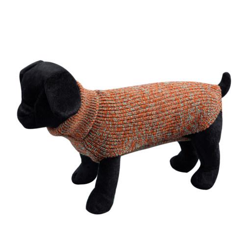 Camisola lisa de malha para cães Sander castanha