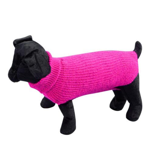 Camisola lisa de malha para cães Sander fúcsia