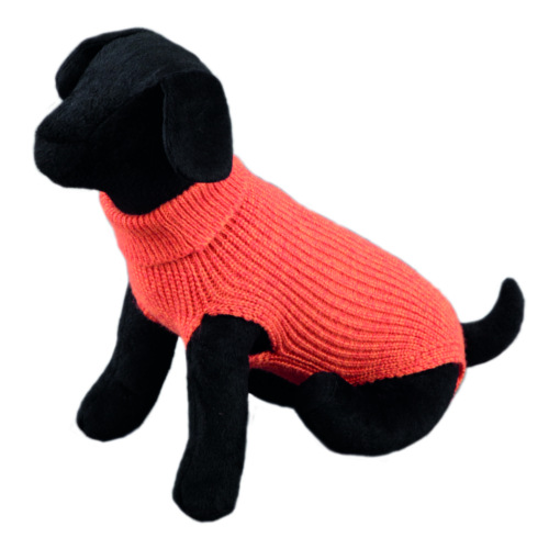Camisola lisa de malha para cães Sander laranja