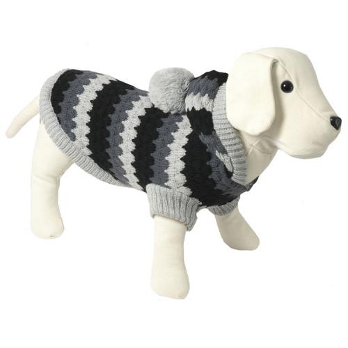Camisola de malha com capuz para cães Tricot