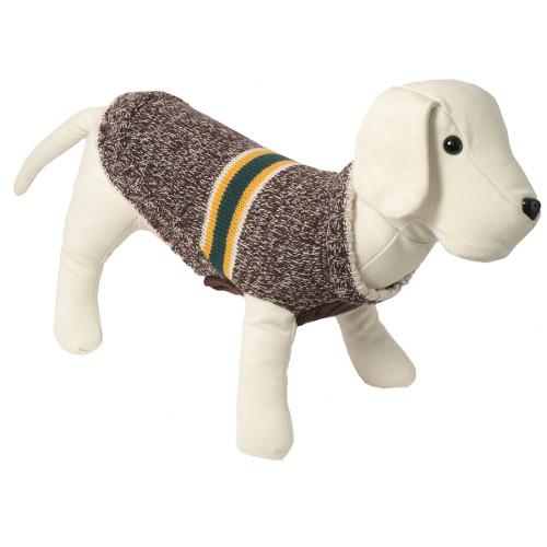 Camisola de malha para cães Melbourne cor castanha