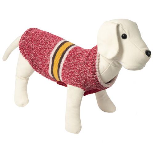 Camisola de malha para cães Melbourne cor vermelha