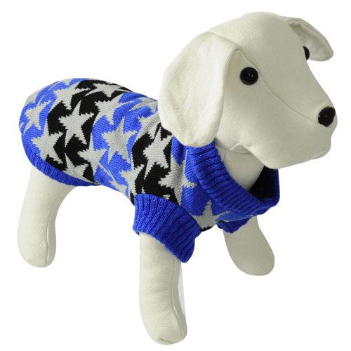 Camisola de malha para cães Stars azul