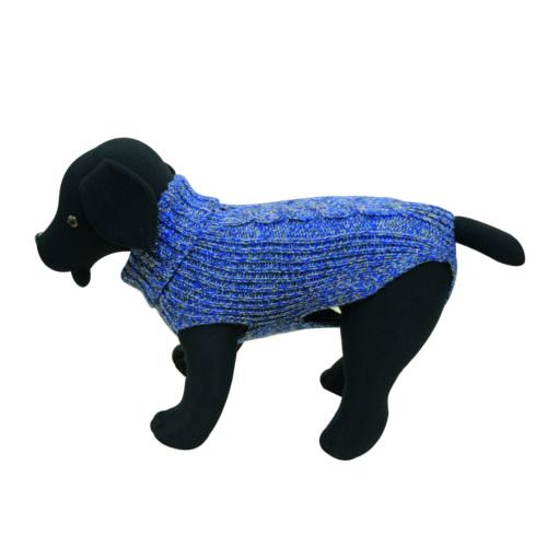 Camisola de malha para cães Cordelux azul