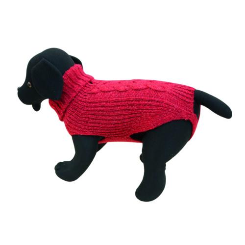 Camisola de malha para cães Cordelux vermelha