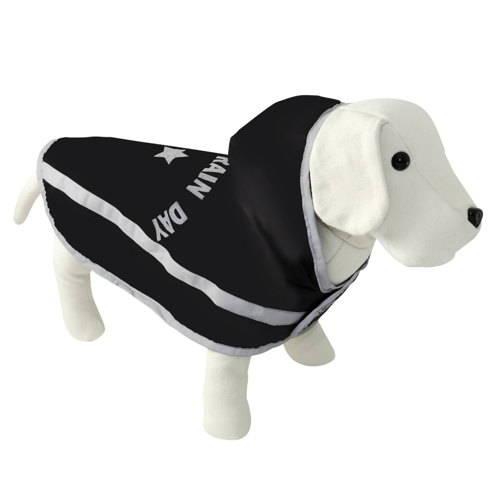 Capa impermeável para cães enjoy rain day preta