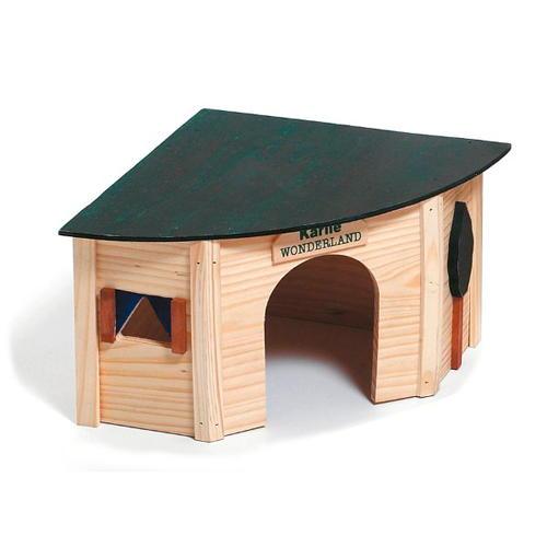 Casa refúgio de esquina em madeira para hamster