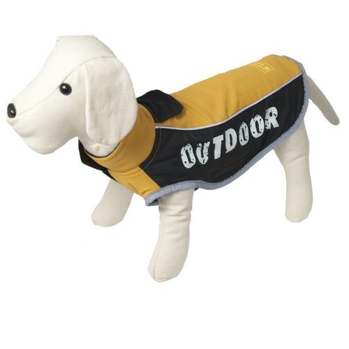 Casaco impermeável para cães Outdoor cor amarelo mostarda