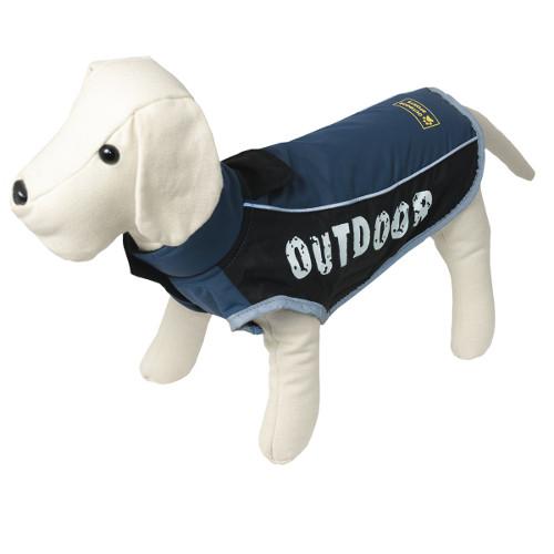 Casaco impermeável para cães Outdoor cor azul