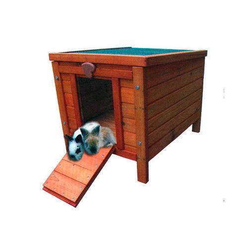 casota de madeira para coelhos e roedores tiendanimal. Black Bedroom Furniture Sets. Home Design Ideas