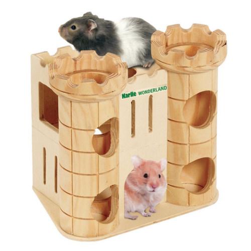 Castelo de madeira para roedores
