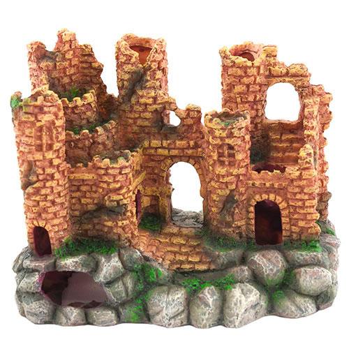 Castelo Nayeco de rocha vermelha para aquários
