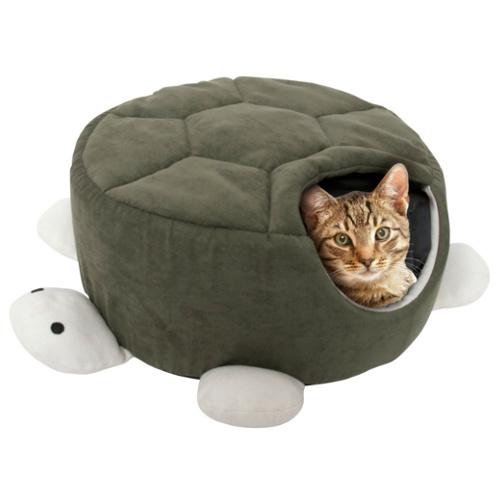 Caverna para animais de estimação com formato de tartaruga