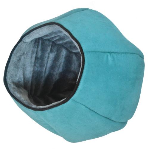 Caverna refúgio suave para gatos Pop Igloo azul