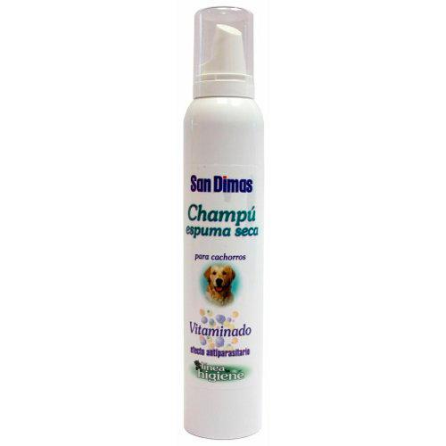 Champô espuma seca para cachorros