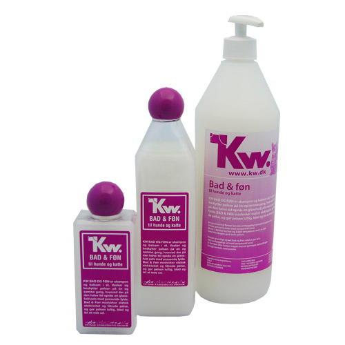Kw Champô 2 em 1 com amaciador com óleo de vison