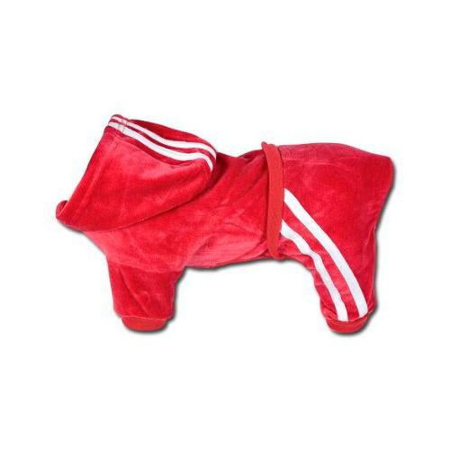 Casaco desportivo de veludo vermelho