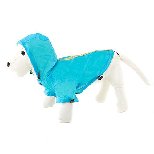 .Impermeável reflectante azul para cães