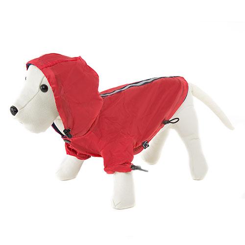 .Impermeável reflectante vermelho para cães