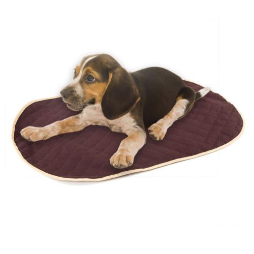 Cobre-cama castanho para cama ortopédica para cães TK-Pet oval