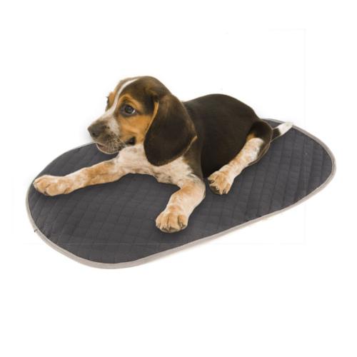 Cobre-cama cinzento para cama ortopédica para cães TK-Pet oval