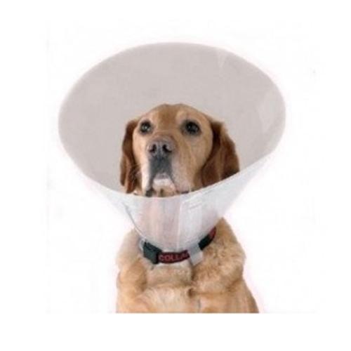 Coleira isabelina de plástico para cães e gatos doentes