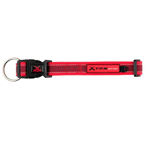 Coleira de nylon para cães X-TRM Pro vermelha