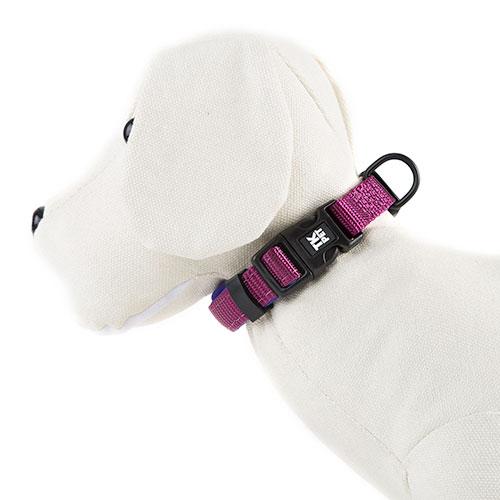 Coleira para cães TK-Pet Neo Classic roxa de nylon e neopreno