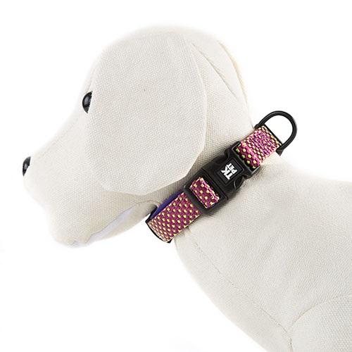 Coleira para cães TK-Pet Neo Design roxa de nylon e neopreno