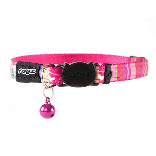 Coleira para gatos cor-de-rosa Rogz Neocat com guizo