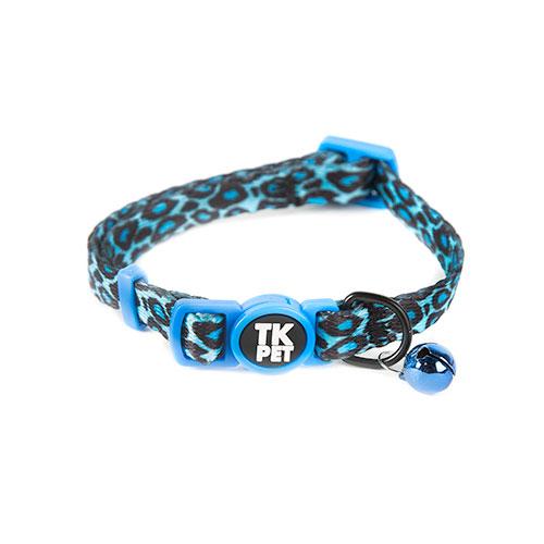 Coleira para gatos TK-Pet Safari pantera azul com guizo
