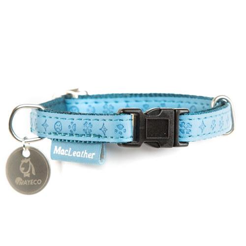Coleira para cães MacLeather Classic Cor Azul