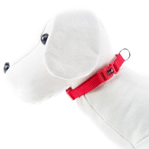 Coleira para cães de Nylon linha Basic Cor Vermelho