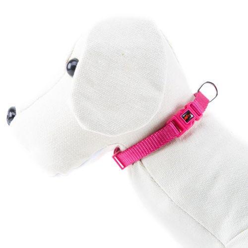 Coleira para cães de Nylon linha Basic Cor Rosa