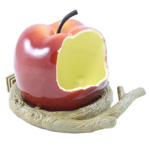 Comedouro em forma de maçã para aves