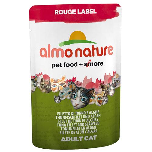 Comida húmida de bife de atum e algas Almo Nature Rouge Label