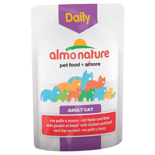 Comida húmida com frango e carne de vaca Almo Nature Daily Menu