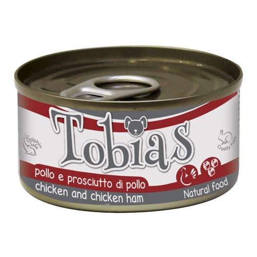 Comida húmida natural de frango e perna de frango Tobias cão