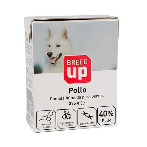 Comida húmida para cães Breed Up com sabor a frango