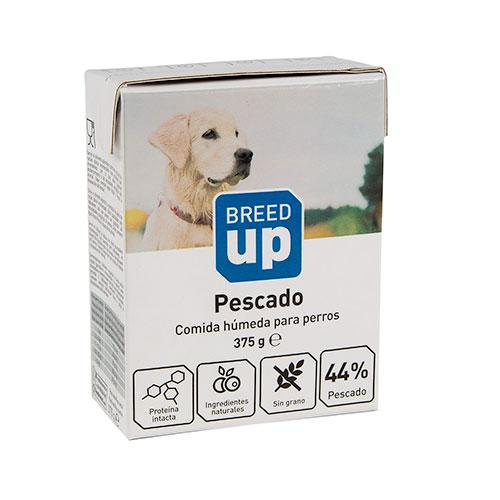 Comida húmida para cães Breed Up com sabor a peixe