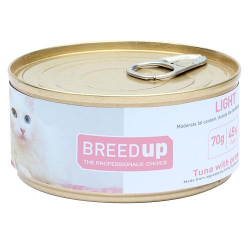 Comida húmida para gatos Breed Up Light de atum com camarão