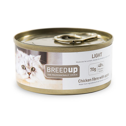 Comida húmida para gatos Breed Up Light de frango com maçã