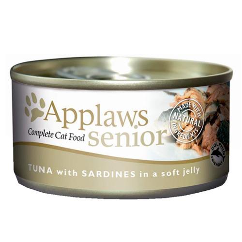 Comida húmida para gatos mais velhos Applaws Senior com atum e s