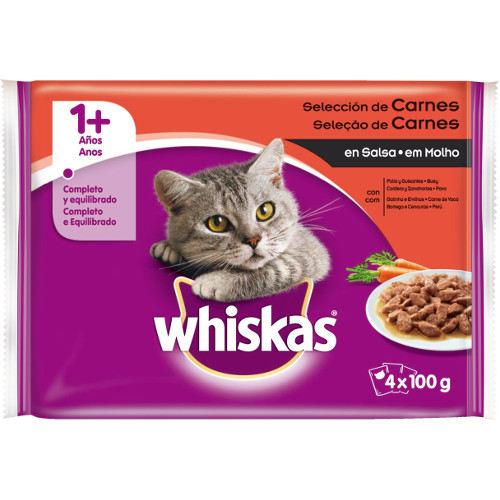 Comida húmida para gatos Whiskas multipack seleção de carnes
