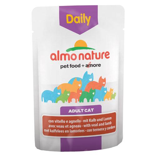 Comida húmida com vitela e cordeiro Almo Nature Daily Menu