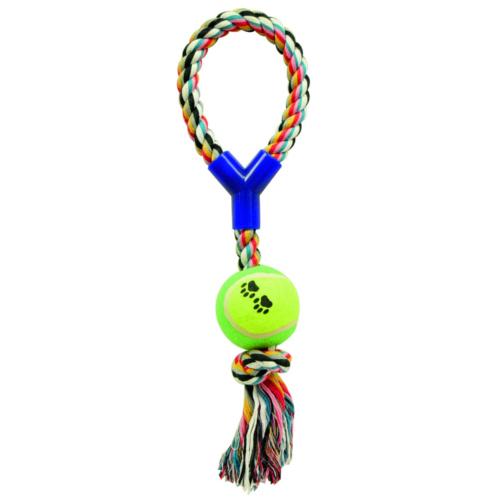 Corda com bola para cães