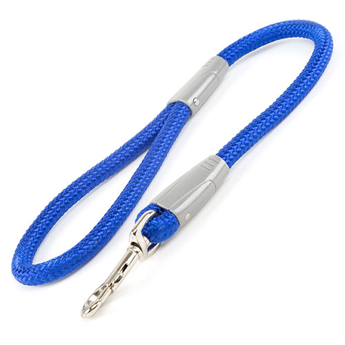 Trela de nylon redonda para cães Vários modelos Cor Azul