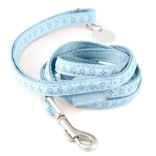 Trela para cães MacLeather Classic Cor Azul