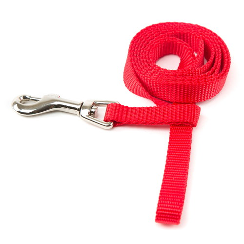Trela para cães de Nylon linha Basic Cor Vermelho